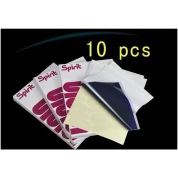 10 Hojas - Papel termocopiador spirit