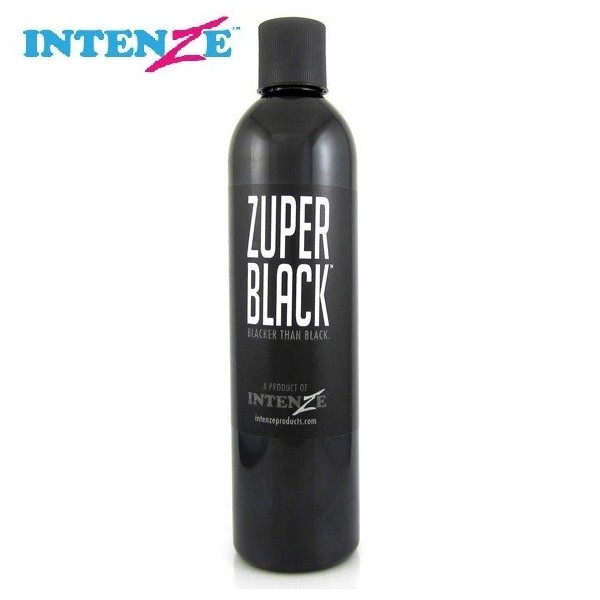 Intenze zuper black 360ml profesional tattoo for Zuper black tattoo ink intenze