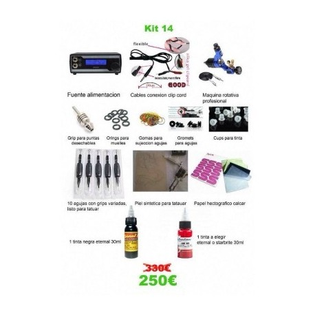 kit tattoo profesional Hummingbird 2