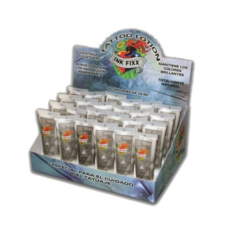 Caja expositor de 24 tubos de INK FIXX LOTION