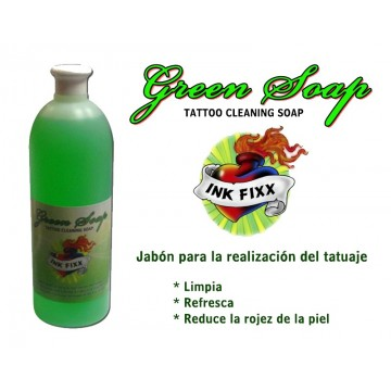 Jabon Green soap INK FIXX para la limpieza del tattoo 1 lt.