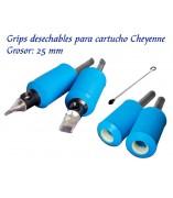 Grips desechables de 25 mm para cartucho - 24 unid.