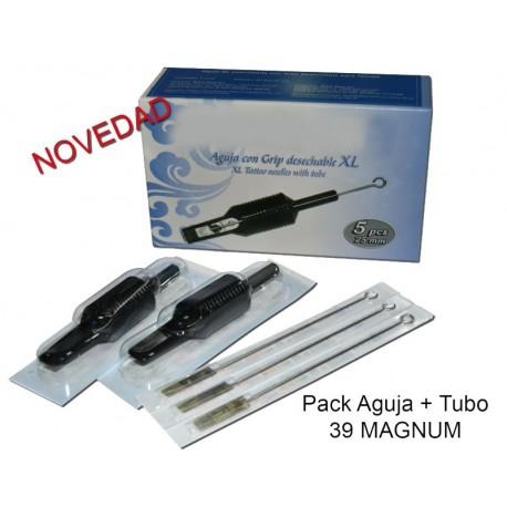 Aguja con Grip - 39 magnum (5 unid.)